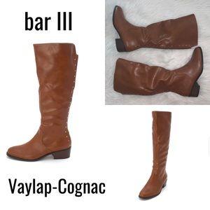NIB BAR III VAYLAP KNEE HIGH RIDING BOOTS - COGNAC
